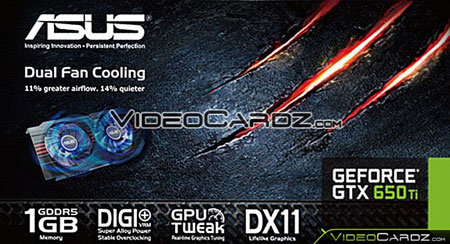 3D-карта ASUS GeForce GTX 650 Ti будет иметь 1 ГБ памяти