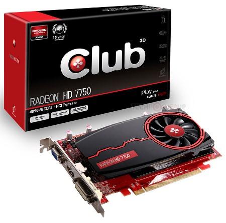 Club 3D Radeon HD 7750 4 ГБ