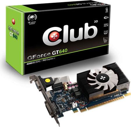 Club 3D увеличивает объем памяти 3D-карты GeForce GT 640 до 4 ГБ