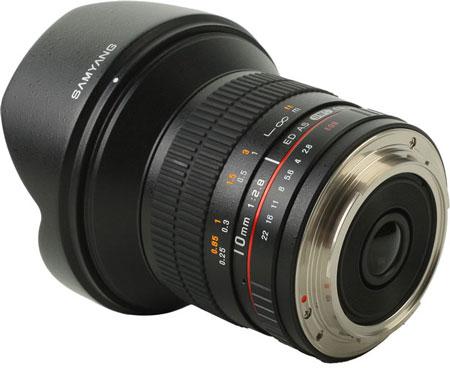 На Photokina 2012 будет показан прототип объектива Samyang 10mm 1:2.8 ED AS UMC CS
