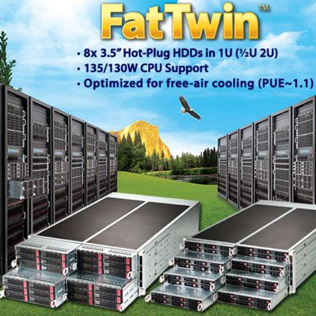 Серверы Supermicro FatTwin превосходят своих предшественников по энергоэффективности на 5-15%