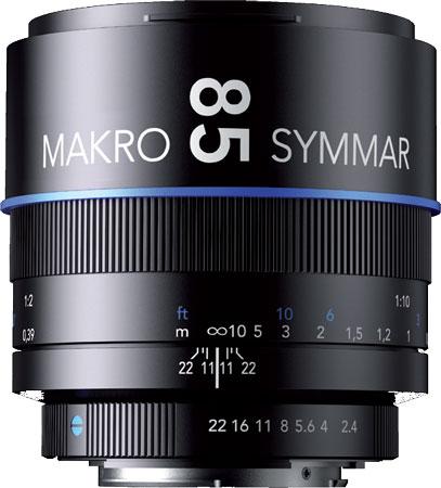 Schneider-Kreuznach выпускает 85 mm/2.4 Makro-Symmar и еще три объектива для зеркальных камер Canon, Nikon, Sony и Pentax