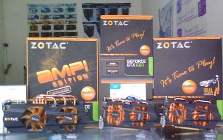 ZOTAC оснастит 3D-карту GeForce GTX 660 AMP! кулером с двумя тепловыми трубками