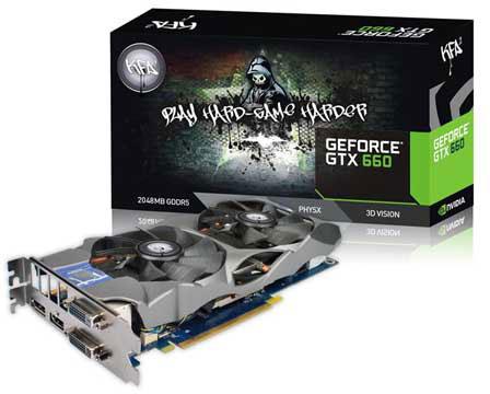Ассортимент KFA2 пополнили 3D-карты GeForce GTX 660 EX OC и KFA2 GeForce GTX 650 EX OC