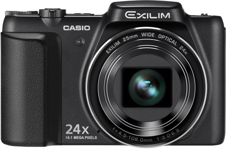 Компактная камера Casio EX-H50 оснащена 24-кратным трансфокатором