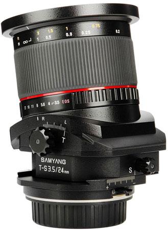 Объектив с коррекцией перспективы Samyang T-S 24mm 1:3.5 ED AS UMC будет показан на Photokina