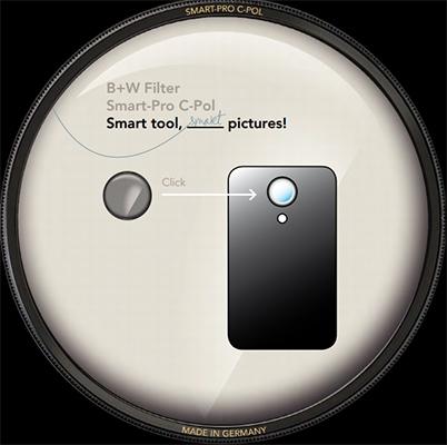 Под маркой B+W выпущен поляризующий фильтр для iPhone и iPad