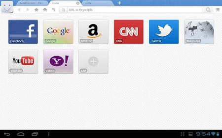 Maxthon Mobile for Tablets