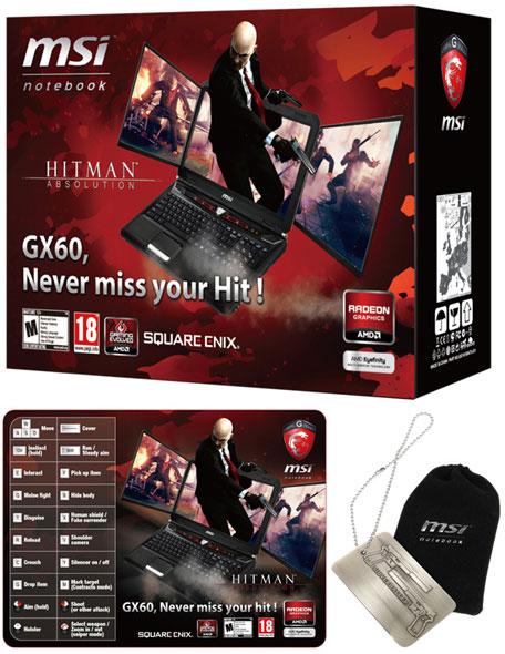 Игровой ноутбук MSI GX60 Hitman Edition имеет тематически оформленную упаковку