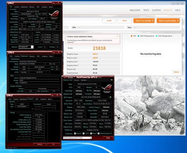 GeForce GTX Titan установила четыре мировых рекорда в тестах 3DMark