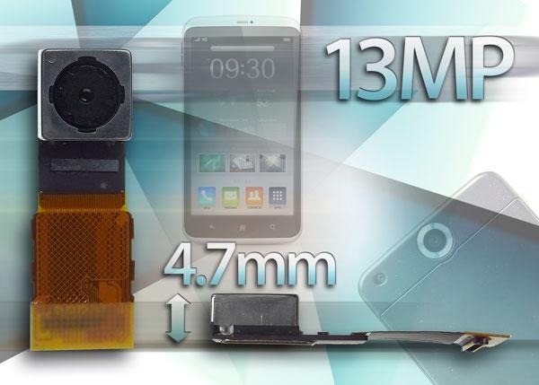 Толщина модуля камеры Toshiba TCM9930MD равна 4,7 мм