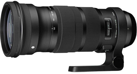 Объектив Sigma 120-300mm F2.8 DG OS HSM оценен в $3599, док — в $59