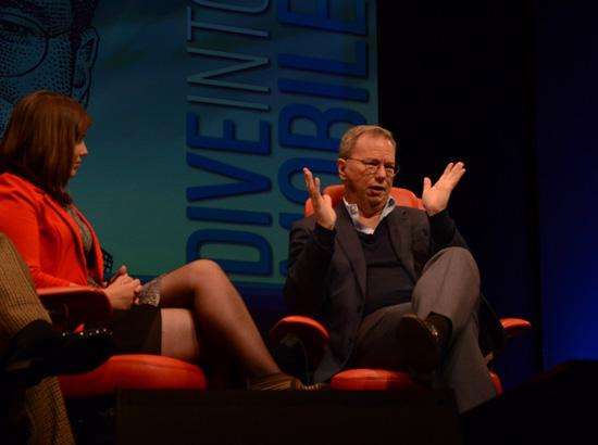 Эрик Шмидт отвечает на вопросы ведущих D: Dive Into Mobile 2013