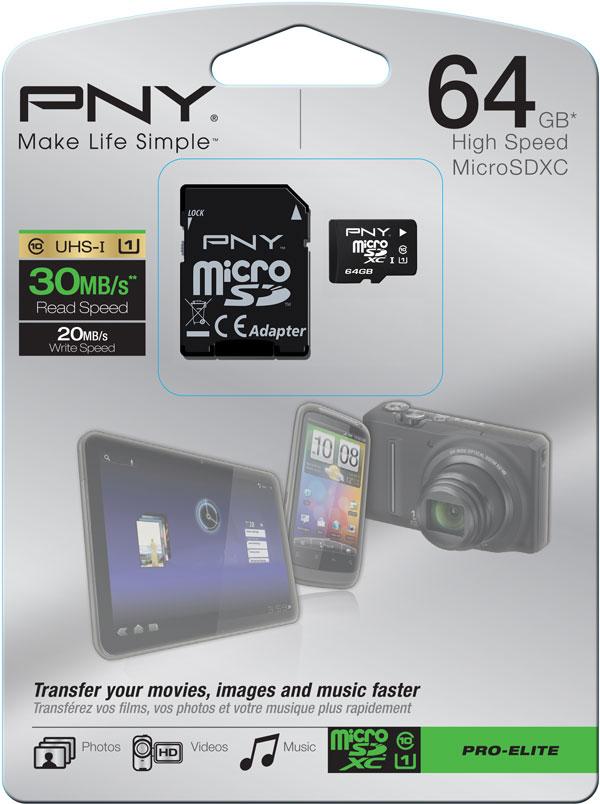Карту PNY microSDXC объемом 64 ГБ уже можно приобрести в сети дистрибуторов продукции PNY по рекомендованной цене 3599 рублей