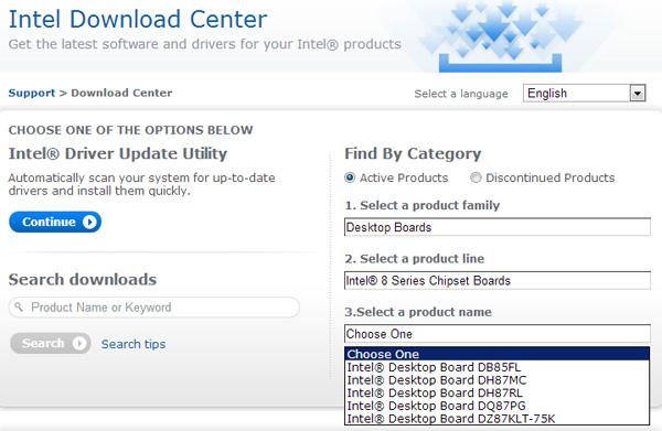 DZ87KL-75K, DH87RL, DH87MC, DH85FL и DQ87PG - системные платы Intel для процессоров Haswell
