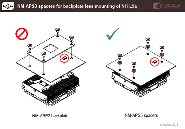 В новых партиях Noctua NH-L9a прокладки NM-APS3 будут сразу включены в комплект поставки