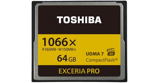 Toshiba называет Exceria Pro самыми быстрыми картами памяти формата CompactFlash