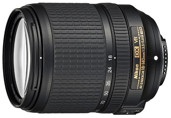 Цена объектива AF-S DX Nikkor 18-140mm f/3.5-5.6G ED VR - $600