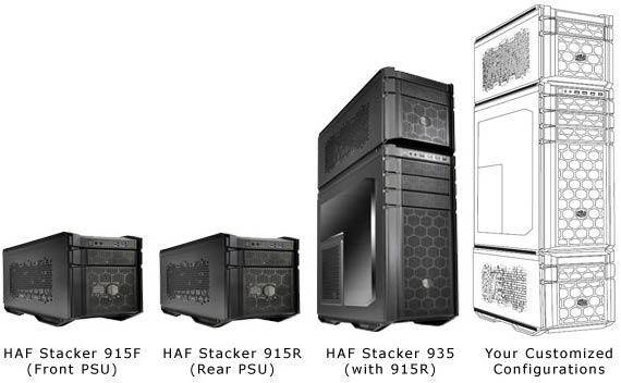 компьютерные корпуса Cooler Master HAF Stacker