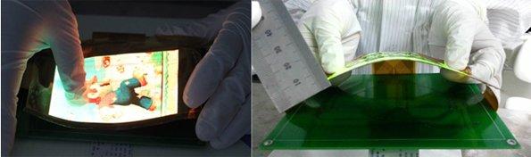 В гибкой панели AMOLED, созданной специалистами компании New Vision Optoelectronics, используется технология Ln-IZO