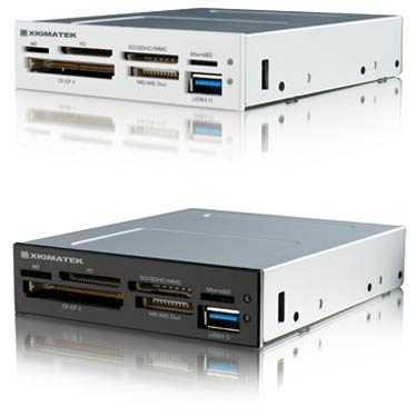 Картридеры Xigmatek Accessor с поддержкой USB 3.0 рассчитаны на установку в отсеки типоразмера 3,5 и 5,25 дюйма