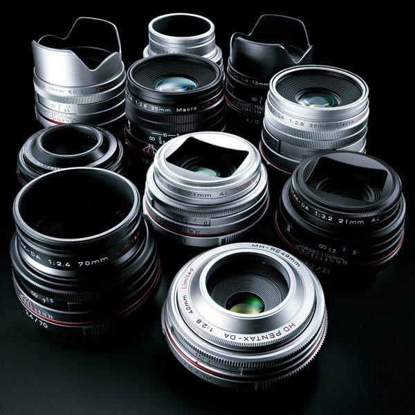 Объективы HD Pentax DA 15mm F4 ED AL Limited, HD Pentax DA 21mm F3.2 AL Limited, HD Pentax DA 35mm F2.8 Macro Limited, HD Pentax DA 40mm F2.8 Limited и HD Pentax DA 70mm F2.4 Limited имеют новое просветляющее покрытие