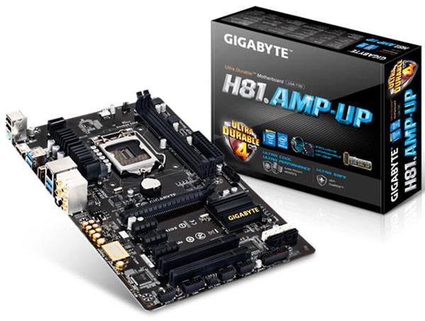 Плата Gigabyte GA-H81.AMP-UP рассчитана на процессоры Intel в исполнении LGA 1150