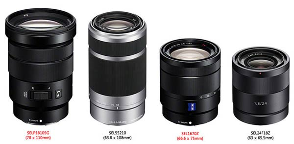 Объективы Sony 16-70mm F4 ZA OSS Vario-Tesser T * E и 18-105mm F4 G OSS E PZ с байонетом E-mount будут представлены на этой неделе