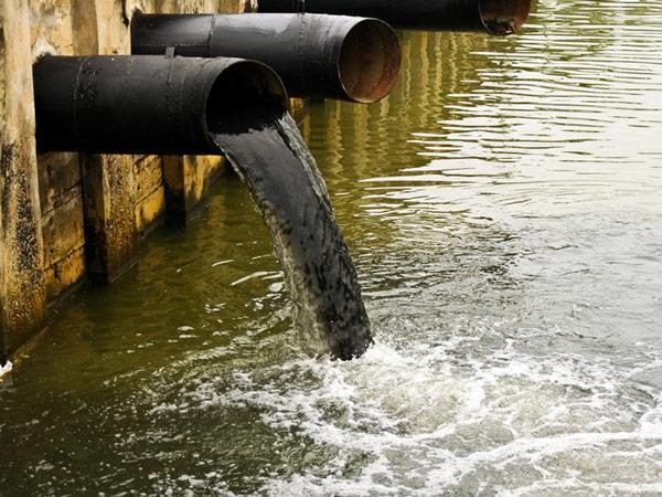 Сточные воды в каналах в районе предприятий Foxconn и Unimicron имеют черно-зеленый цвет