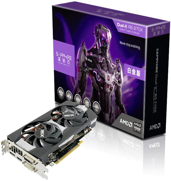 Sapphire оснащает 3D-карту Radeon R9 270X охладителем Dual-X и 4 ГБ памяти