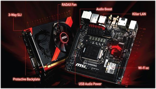 Системная плата MSI Z87I Gaming AC и 3D-карта GTX760 Gaming ITX предназначены для создания игровых систем типоразмера mini-ITX