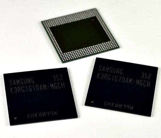 ������ Samsung LPDDR4 DRAM ���������� 8 ���� ������������� ��� ��������� ���������