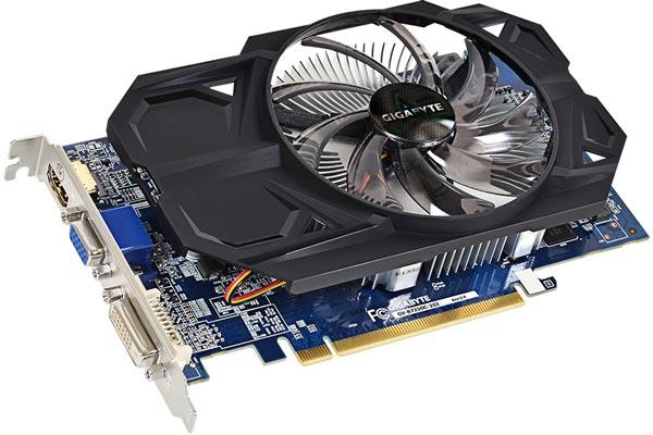 Карта Gigabyte Radeon R7 250 OC (GV-R725OC-2GI rev. 2.0) оснащена выходами DVI, D-Sub и HDMI