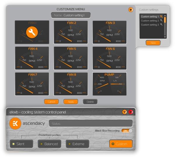 Программное обеспечение для платы EK-Ascendacy работает в среде Microsoft Windows