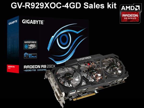 Gigabyte GV-R929XOC-4GD — разогнанный вариант видеокарты AMD Radeon R9 290X