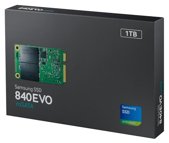Поставки твердотельных накопителей Samsung 840 EVO mSATA начинаются в этом месяце