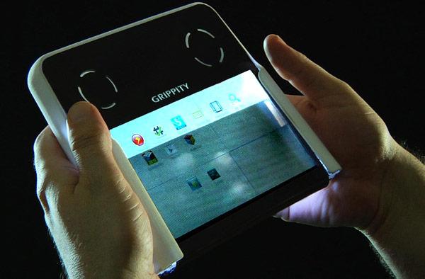 Создатели Grippity сделали сенсорными обе стороны жидкокристаллического экрана