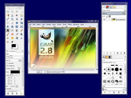 Интерфейс программы GIMP