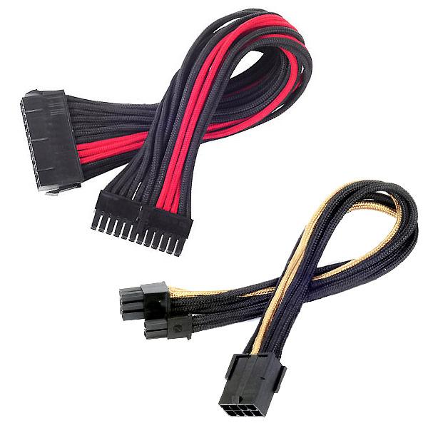 К особенностям кабелей SilverStone PP07 можно отнести индивидуальную оплетку