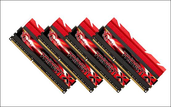 Модули в наборе Trident X DDR3-2800 работают с задержками C11-13-13-35