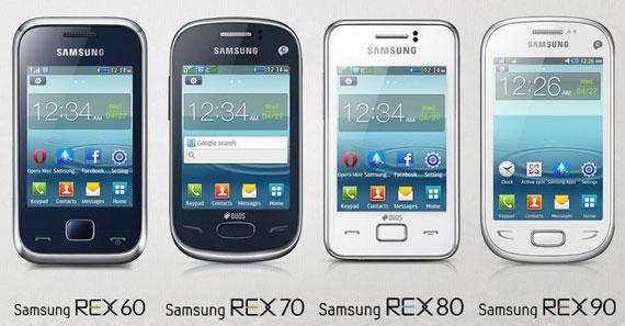 Samsung REX, модельный ряд
