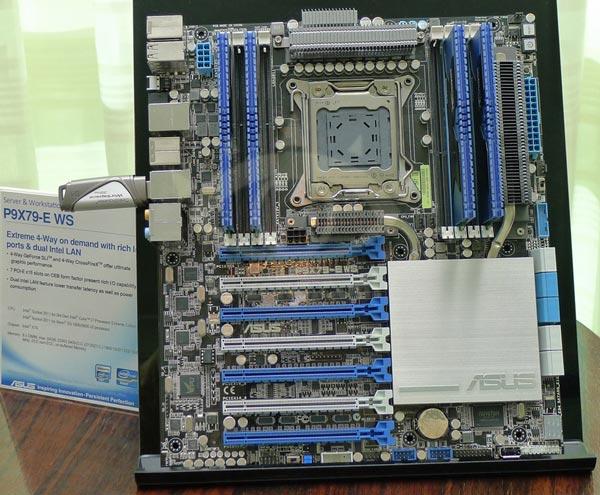 Материнская плата ASUS P9X79-E WS выполнена в серверном форм-факторе SSI-CEB и базируется на наборе системной логики...