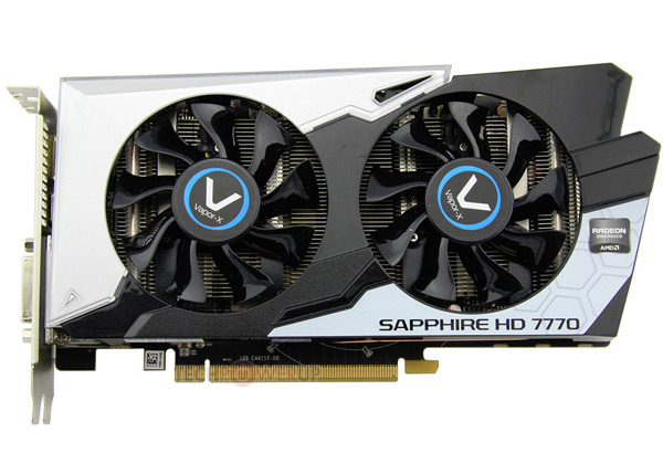 Sapphire выпускает 3D-карту Radeon HD 7770 Vapor-X Black Diamond