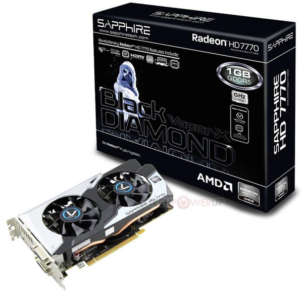 Sapphire выпускает 3D-карту Radeon HD 7770 Vapor-X Black Diamond