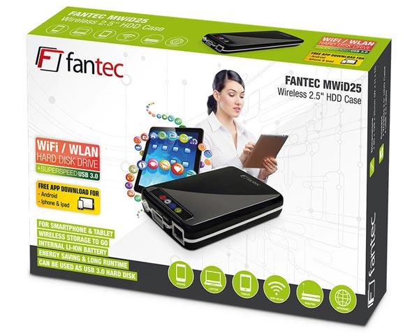 Fantec MWiD25 - корпус для внешнего накопителя с беспроводным подключением к сети