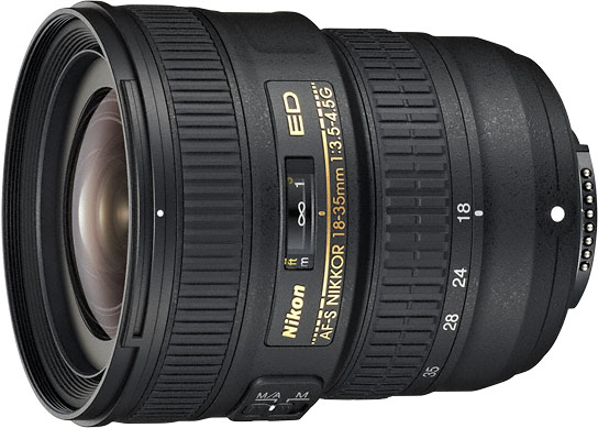 AF-S Nikkor 18-35mm f/3.5-4.5G ED — легкий и компактный объектив для полнокадровых камер Nikon