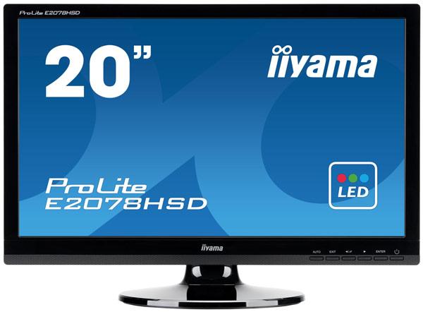 Основой монитора iiyama E2078HSD стала панель типа TN