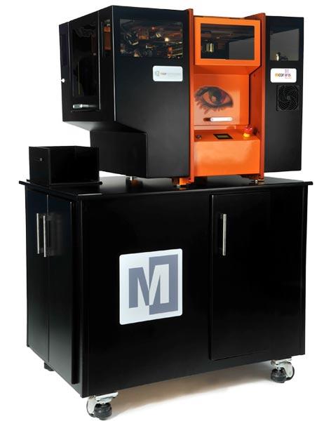 Разрешение принтера Mcor IRIS — 5760 x 1440 x 508 точек на дюйм