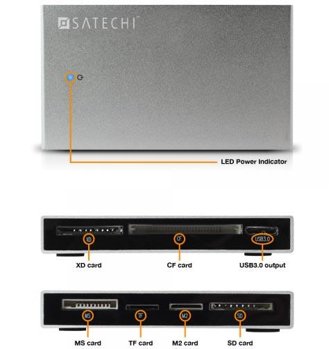 Satechi �������� ������������� ���������� ��� ������ � ������� ������ ����������� USB 3.0 � �������� ��� � ����������� ������