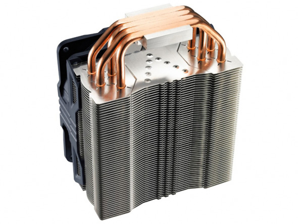 У своих предшественников кулер Cooler Master Hyper 212X унаследовал конструкцию с четырьмя тепловыми трубками